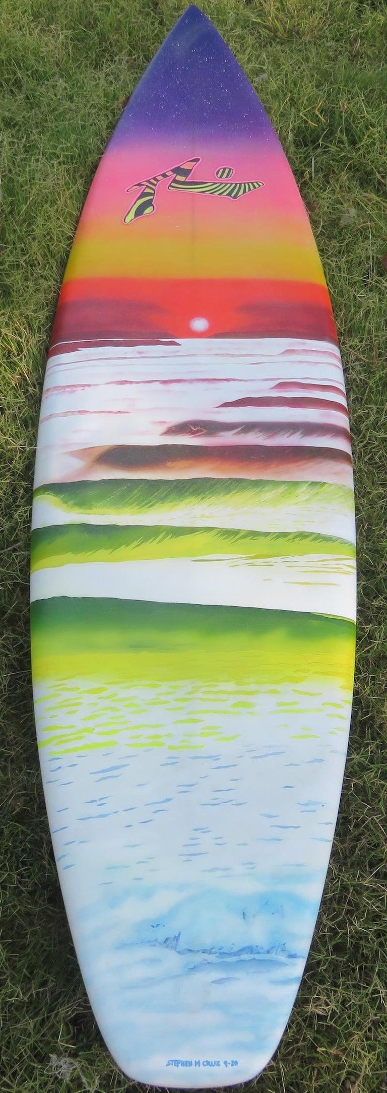 "1980s Vintage Rusty Preisendorfer Surfboard ""Surf on Planet X"" by Stephen Cruz 4"