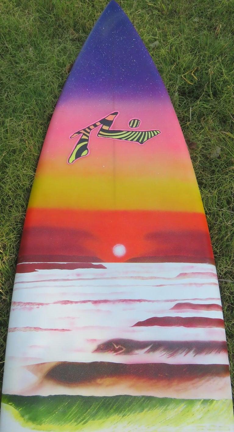 "American 1980s Vintage Rusty Preisendorfer Surfboard ""Surf on Planet X"" by Stephen Cruz"