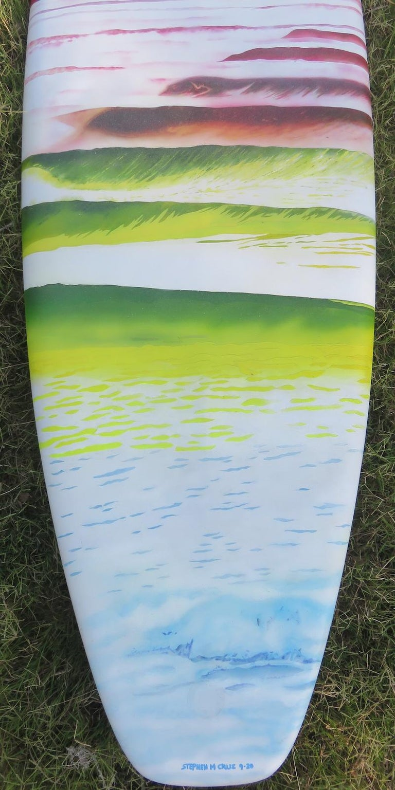 "Late 20th Century 1980s Vintage Rusty Preisendorfer Surfboard ""Surf on Planet X"" by Stephen Cruz"
