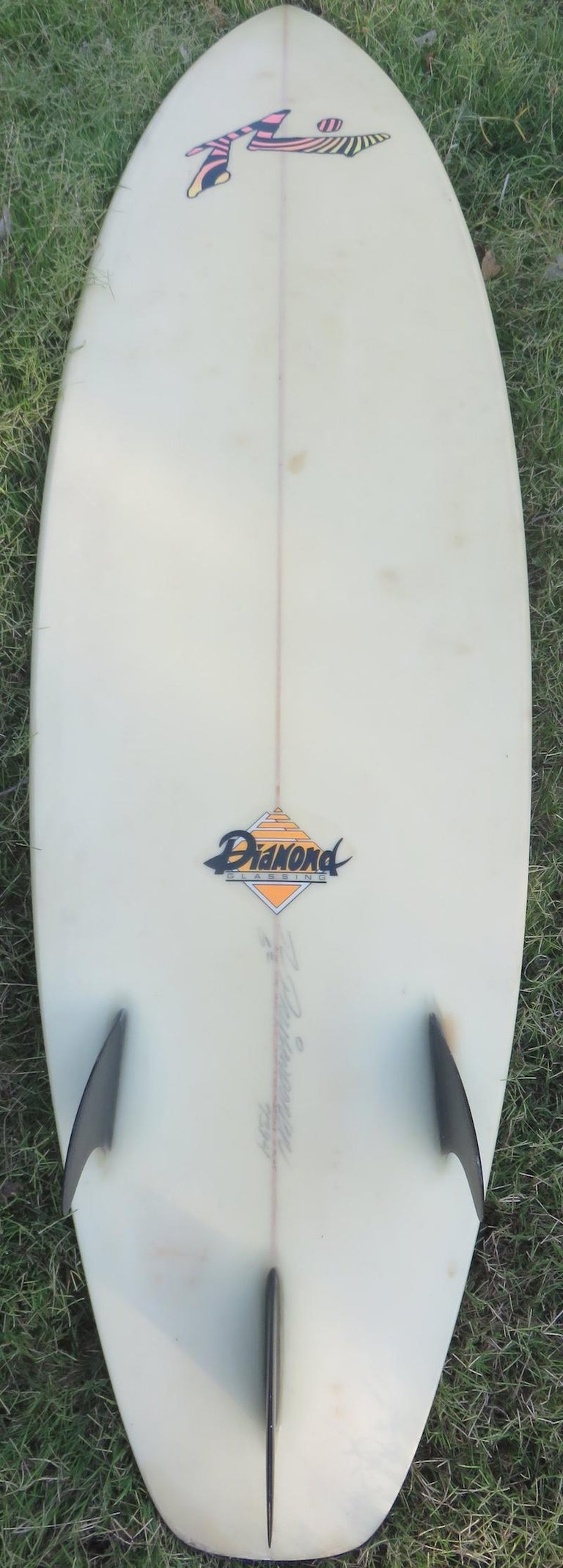 "1980s Vintage Rusty Preisendorfer Surfboard ""Surf on Planet X"" by Stephen Cruz 3"