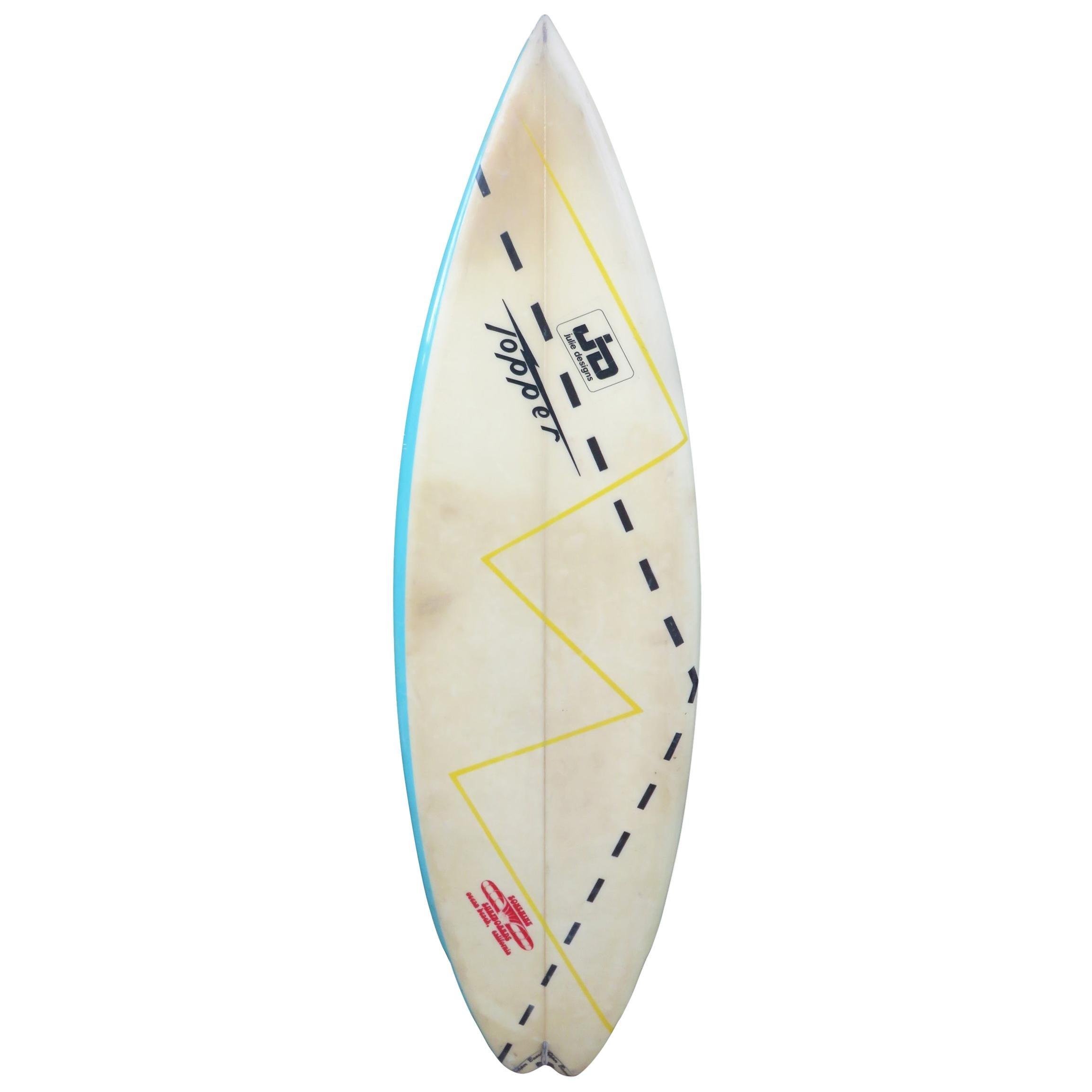 1980s Vintage Sonshine Surfboards Topper Shortboard