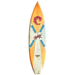 1980s Vintage Wave Riding Vehicles 'WRV' Surfboard by Mike Beveridge