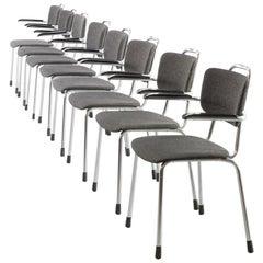 1980s W. H. Gispen Chair for Gebroeders van der Stroom Set of 8