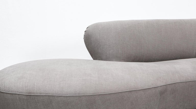1980s Warm Grey, New Upholstery Sofa by Vladimir Kagan For Sale 4