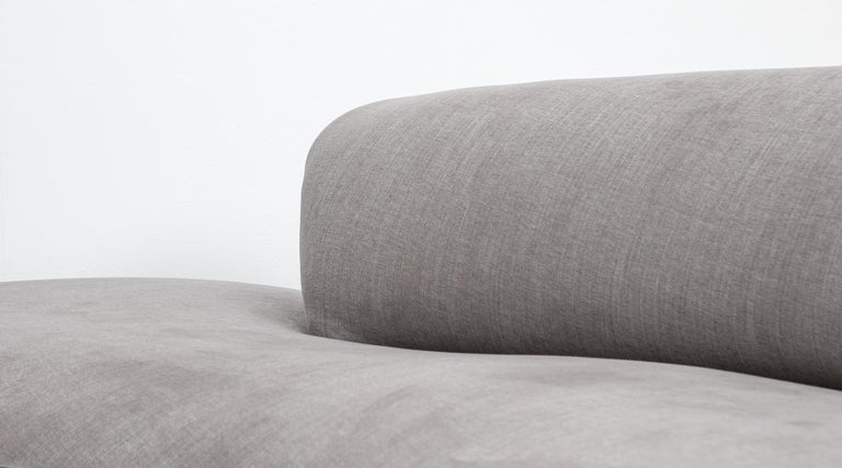 1980s Warm Grey, New Upholstery Sofa by Vladimir Kagan For Sale 6