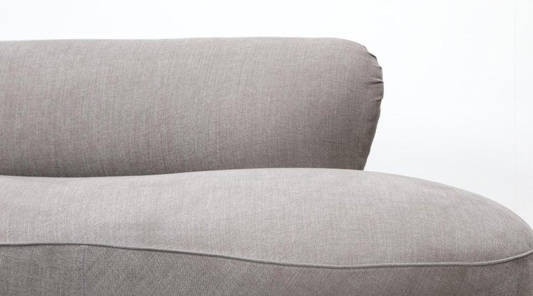 1980s Warm Grey, New Upholstery Sofa by Vladimir Kagan For Sale 3