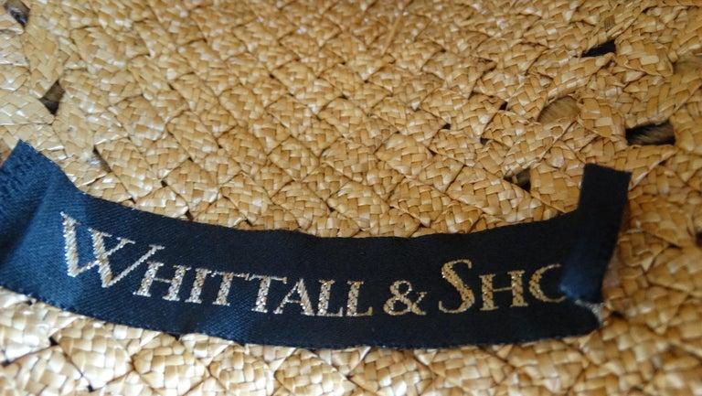 1980s Whittall & Shon Asymmetrical Wide Brim Straw Hat For Sale 5