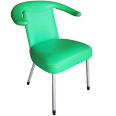 1980s Wittman Leather Upholstered Green Chair