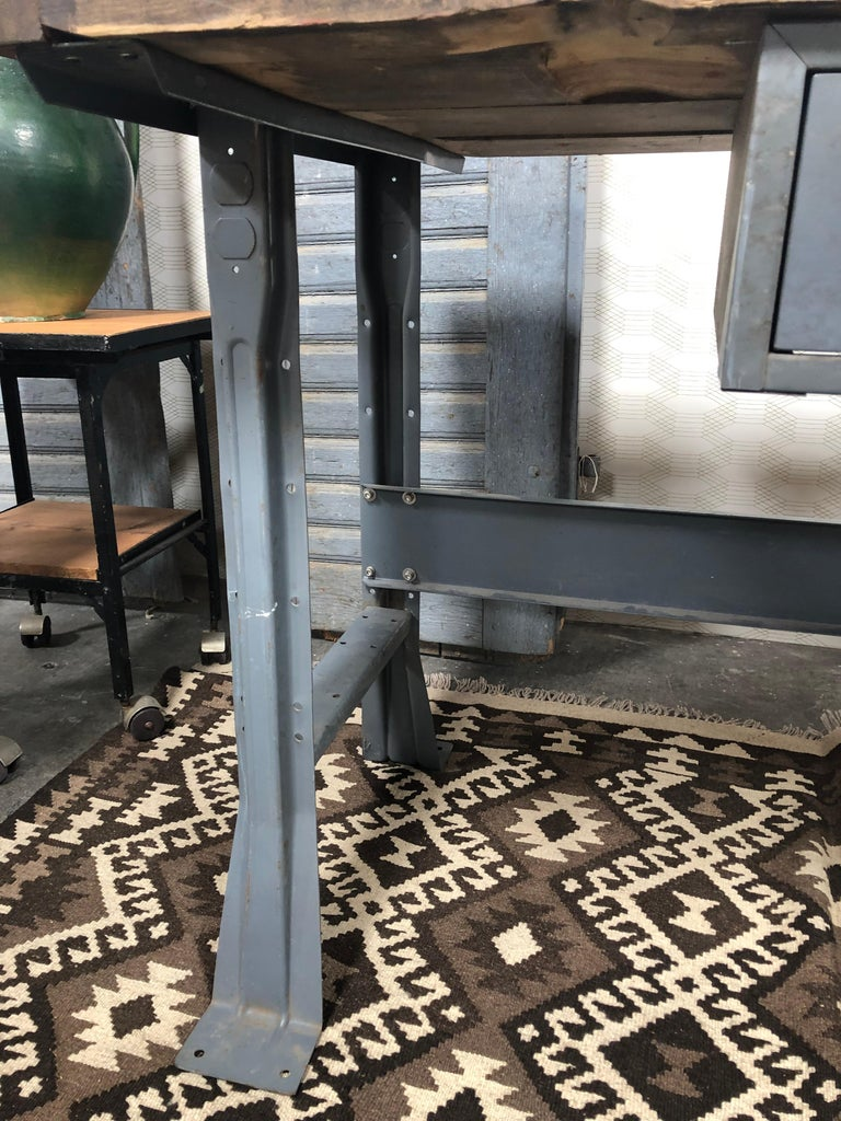 Metal Work Table with Drawer For Sale 4