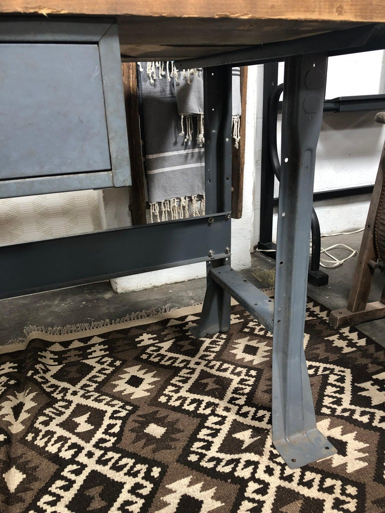 Metal Work Table with Drawer For Sale 5