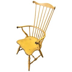 1980s Yellow Philadelphia Windsor Armchair by Bill Wallick