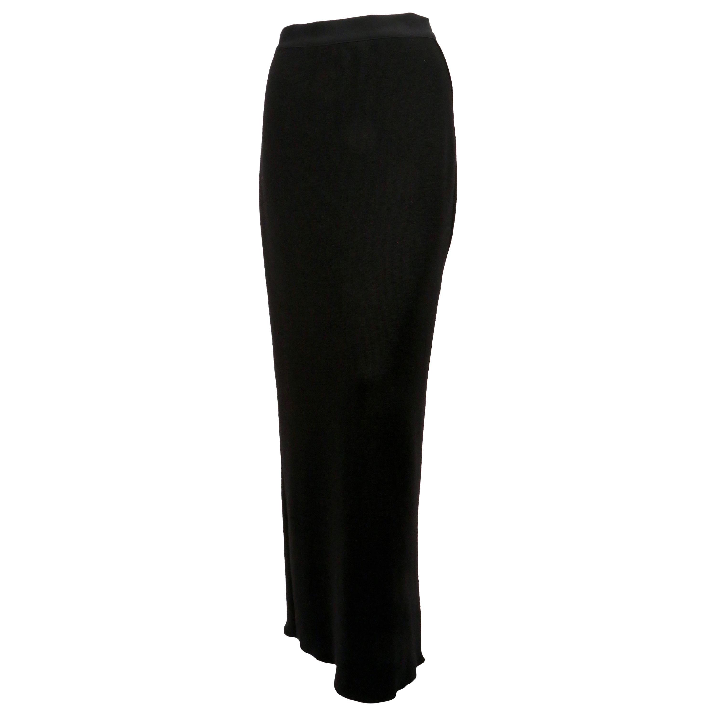 1980's YOHJI YAMAMOTO black knit skirt with flap pockets