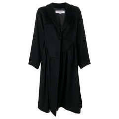 1980s Yves Saint Laurent Black Wool Coat