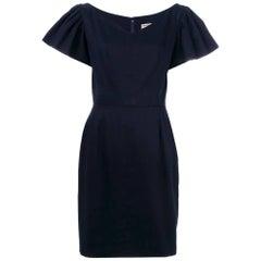 1980s Yves Saint Laurent Blue Navy Mini Dress