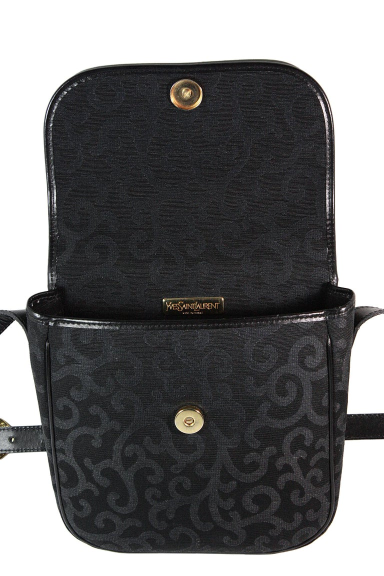 1980s Yves Saint Laurent Canvas Heart Handbag For Sale 3