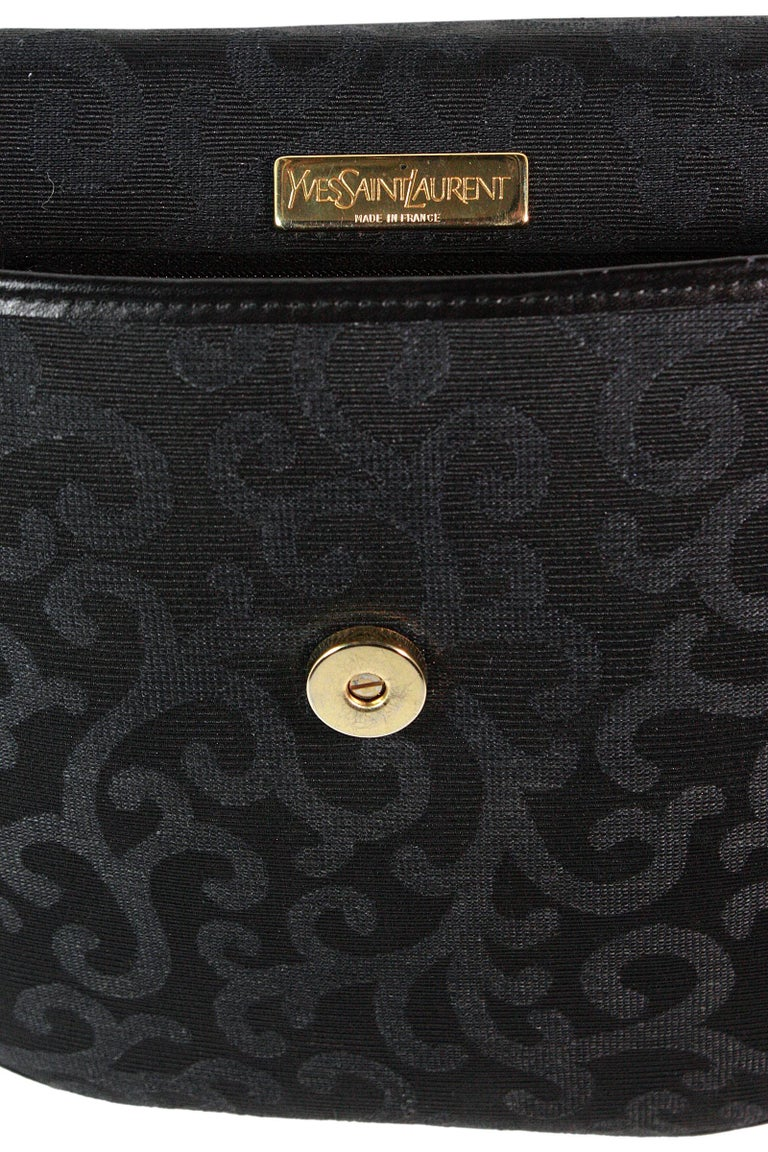 1980s Yves Saint Laurent Canvas Heart Handbag For Sale 4