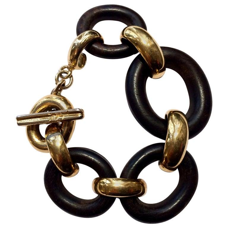 1980s Yves Saint Laurent Chain Bracelet For Sale