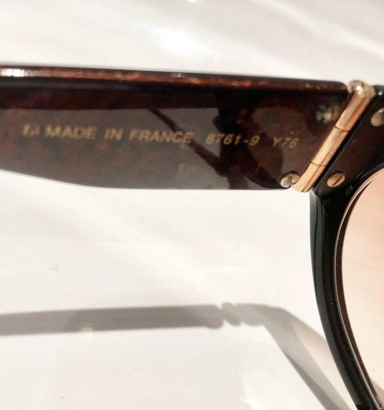 1980s Yves Saint Laurent Champs Elysees Aviator Sunglasses For Sale 5