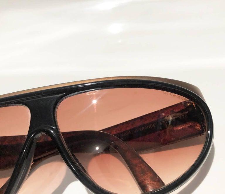 1980s Yves Saint Laurent Champs Elysees Aviator Sunglasses For Sale 6