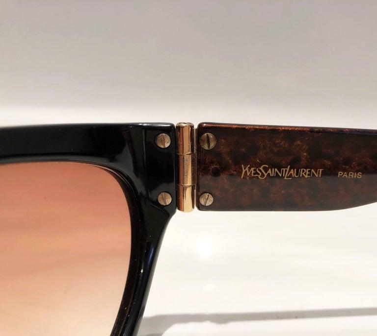 1980s Yves Saint Laurent Champs Elysees Aviator Sunglasses For Sale 7