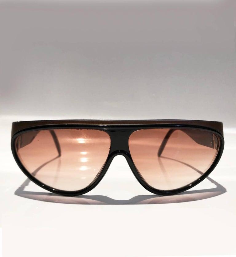 1980s Yves Saint Laurent Champs Elysees Aviator Sunglasses For Sale 8