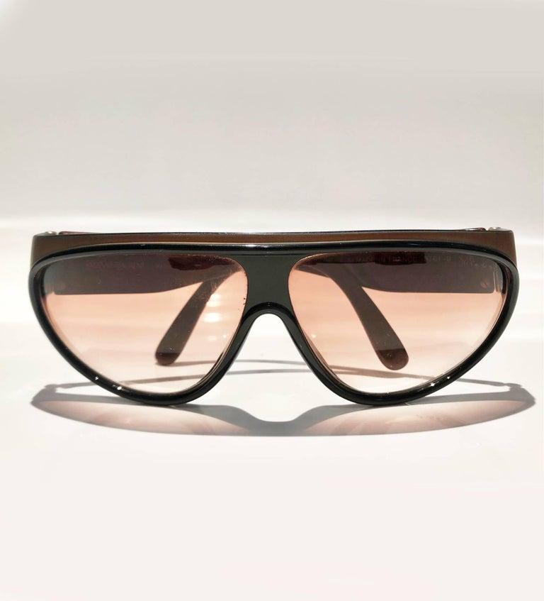 Black 1980s Yves Saint Laurent Champs Elysees Aviator Sunglasses For Sale