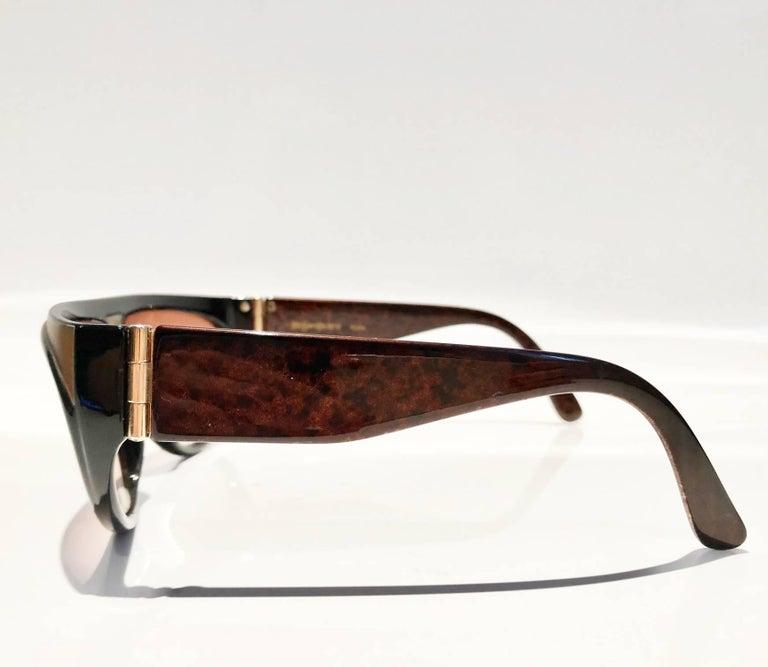 Women's or Men's 1980s Yves Saint Laurent Champs Elysees Aviator Sunglasses For Sale