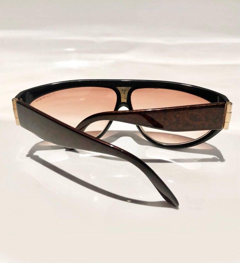 1980s Yves Saint Laurent Champs Elysees Aviator Sunglasses For Sale 1