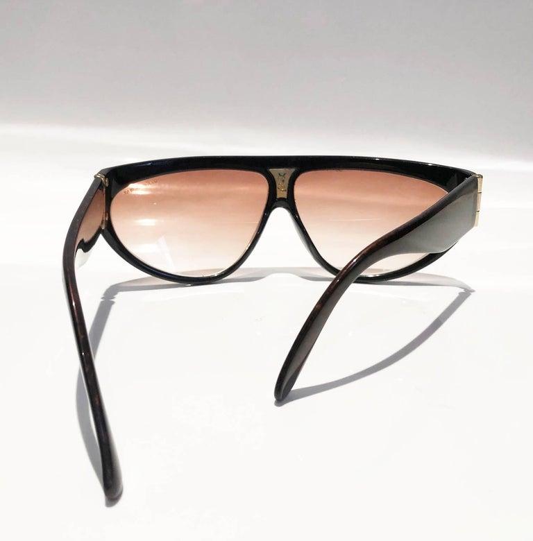 1980s Yves Saint Laurent Champs Elysees Aviator Sunglasses For Sale 2