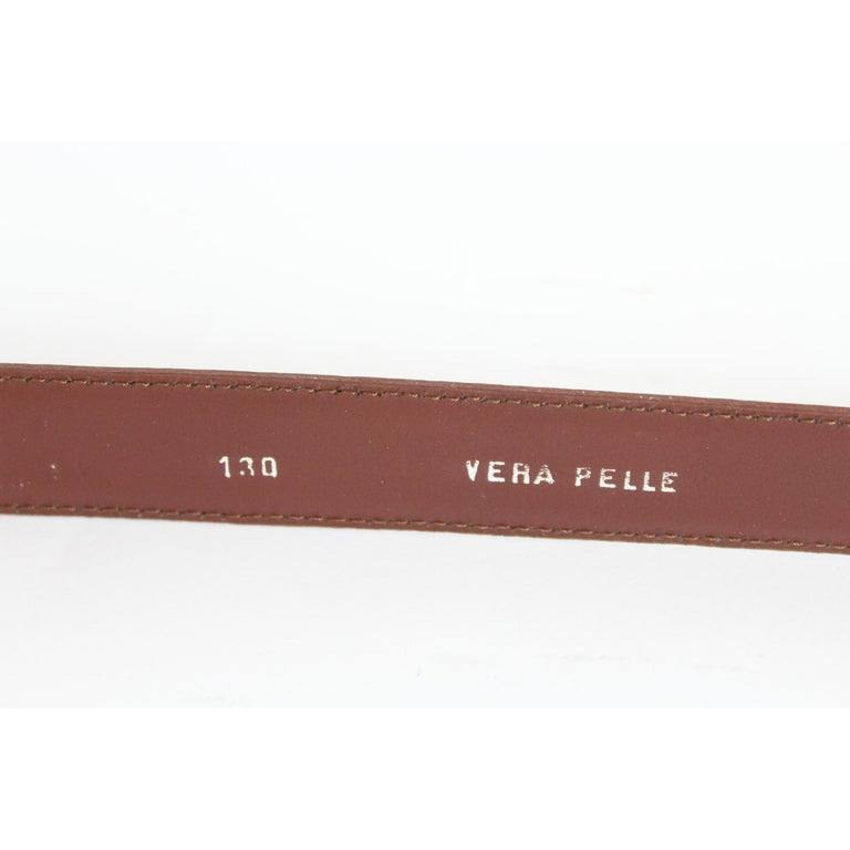Men's 1980s Yves Saint Laurent Leather Brown Belt  For Sale