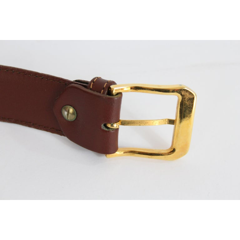 1980s Yves Saint Laurent Leather Brown Belt  For Sale 1