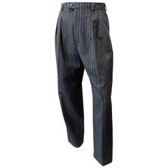 Yves Saint Laurent 1980s Pinstripe Wool Trousers