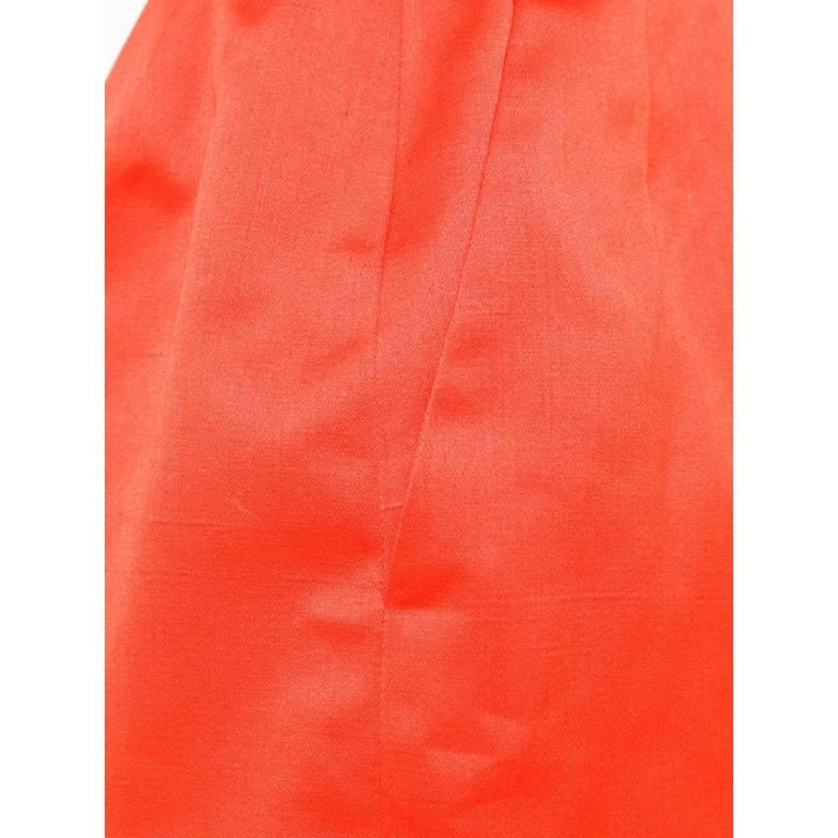 Women's 1980s Yves Saint Laurent Red Straight Skirt For Sale