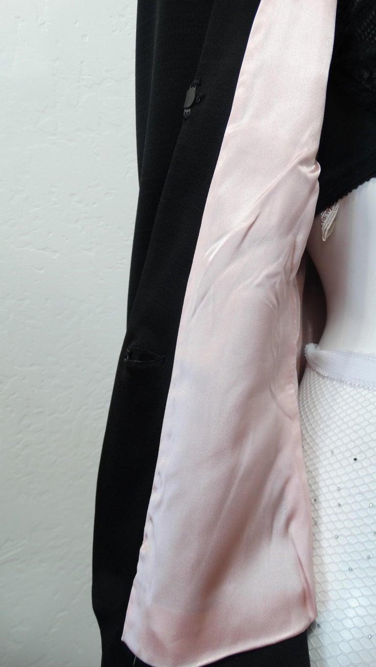 1980s Yves Saint Laurent Rhinestone Embellished Blazer  For Sale 4