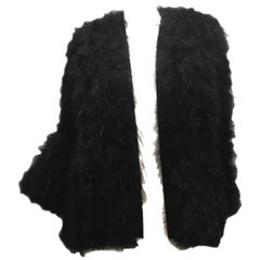 1980s Yves Saint Laurent Rive Gauche Marabou Feather Chubby with tags