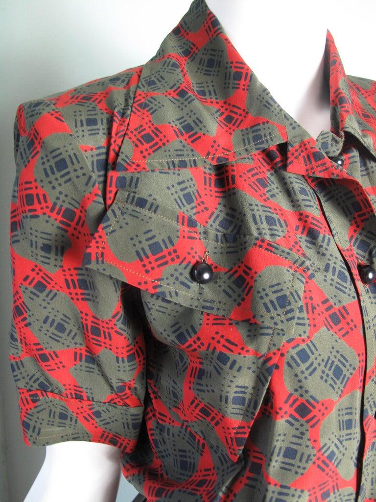 1980s Yves Saint Laurent silk printed