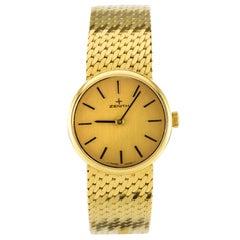 1980s Zenith 18 Karat Gold Ladies Mechanical Wristwatch