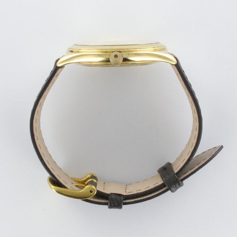 1980s Zenith Elite Automatic 18 Karat Yellow Gold Wristwatch For Sale 8