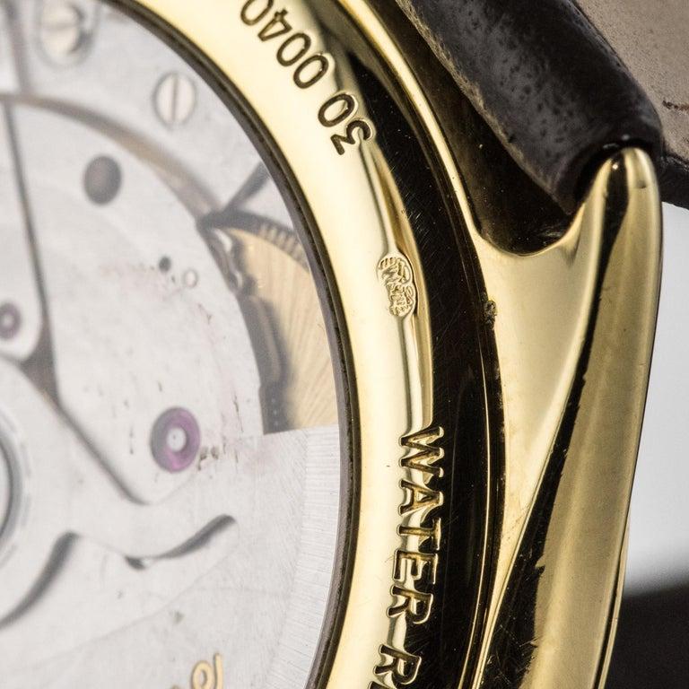 1980s Zenith Elite Automatic 18 Karat Yellow Gold Wristwatch For Sale 11