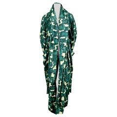 1981 AZZEDINE ALAIA hooded kimono coat with print by Christoph Von Weyhe
