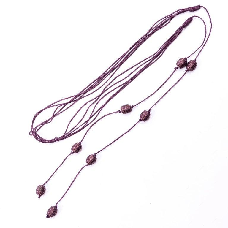 1981 Gianni Versace Vintage Purple Silk & Wool Jodhpurs & Star Chiffon Top For Sale 8