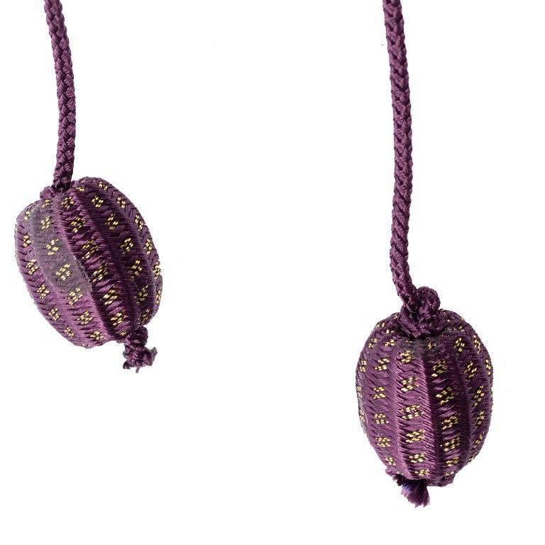 1981 Gianni Versace Vintage Purple Silk & Wool Jodhpurs & Star Chiffon Top For Sale 9