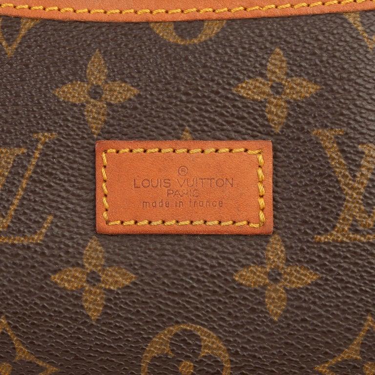 1981 Louis Vuitton Brown Monogram Coated Canvas Vintage Samur 356 For Sale 4