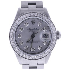 1981 Rolex Datejust 6916 Diamond Mother-of-Pearl Dial - diamond bezel