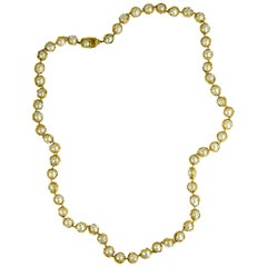 1982 Charles de Temple Pearl and Textured Gold Necklace
