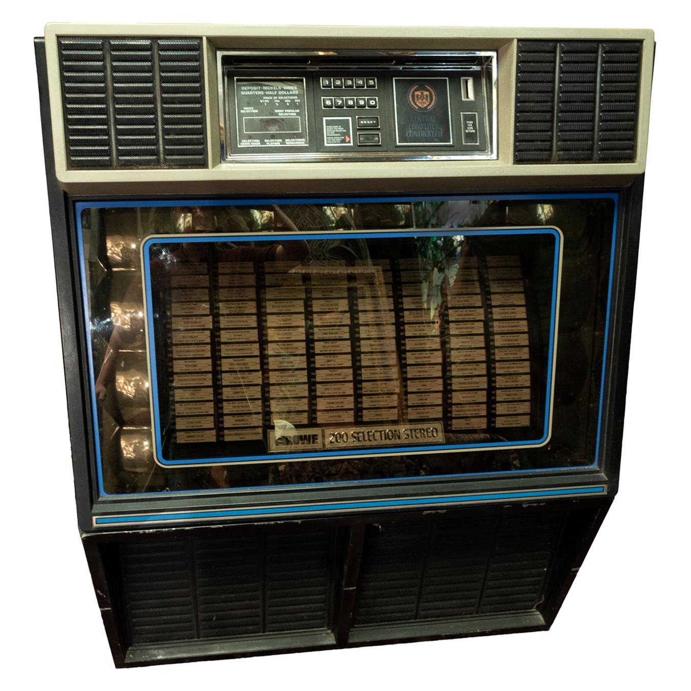 1982 Rowe Jukebox Model R86, 100 45 RPM Vinyl Records