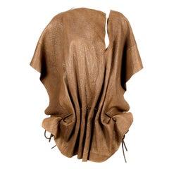 1983 ISSEY MIYAKE leather poncho runway coat