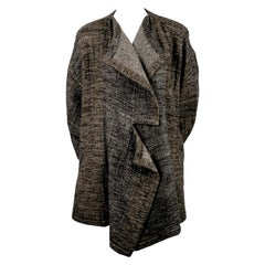 1983 ISSEY MIYAKE tweed runway coat with asymmetrical collar