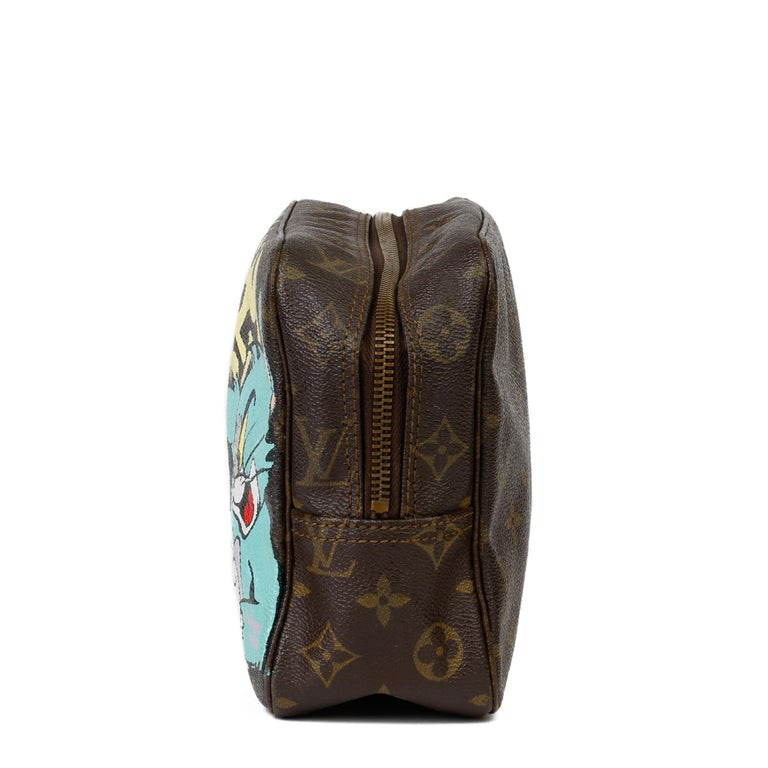 Women's 1983 Louis Vuitton Hand-painted 'Get This Money' X Year Zero London Pouch For Sale
