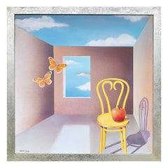 1983 Surrealist Painting by Libertad Gomez